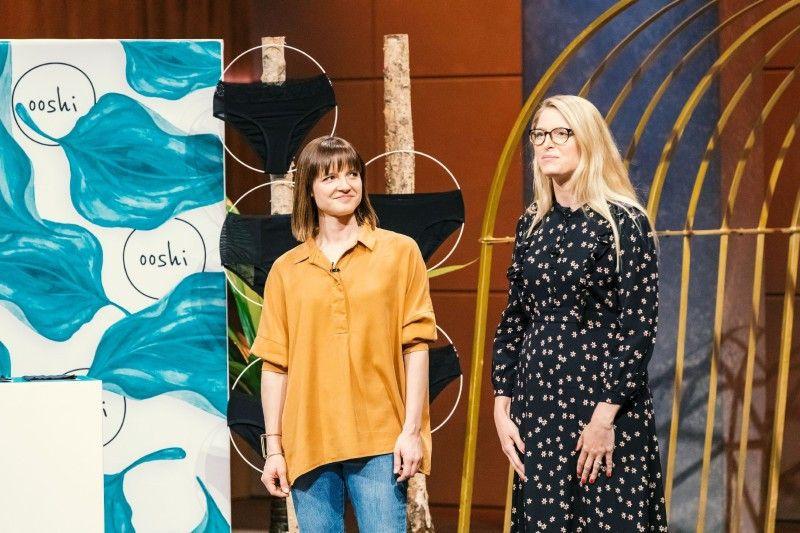 """<b>Folge 11:</b> Kristine Zeller und Kati Ernst haben Periodenunterwäsche konzipiert, bei der das Menstruationsblut von einem Membransystem aufgesaugt und am Auslaufen gehindert wird. Sie nennen das Ganze """"ooshi""""."""