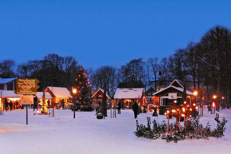 Der Weihnachtsmarkt auf dem Gut Pronstorf.