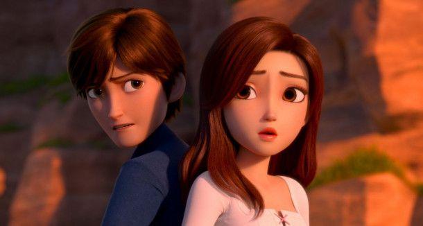 Sie könnten so ein schönes Paar sein, denkt sich Merlin. Doch er weiß nicht, dass Rotschühchen nicht die ist, für die er sie hält.