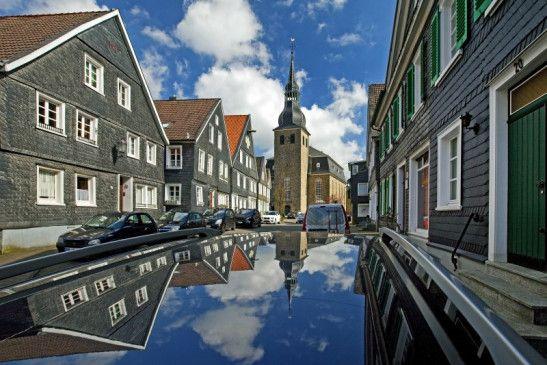 Die idyllische Altstadt von Hückeswagen.