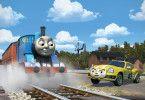 Das Rennauto Ace fordert Thomas heraus: Wird er die erste Lokomotive, die die ganze Welt bereist hat?