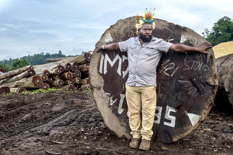 Mundiya Kepanga kämpft gegen die Zerstörung des Regenwalds in seiner Heimat Papua-Neuguinea.