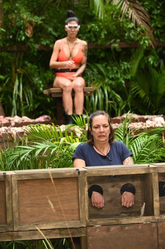 Während Elena auf einen Brett über einem Becken voller Fischabfälle und Innereien sitzt, muss Danni Tiere ertasten und beschreiben, Elena muss sie erraten.