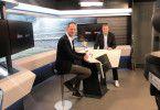Spielten Doppelpass: die beiden Chefredakteure Stephan Braun (prisma, links) und Pit Gottschalk (Sport1).