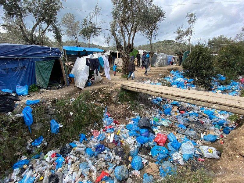 Die Zustände in dem Lager auf der griechischen Insel Lesbos sind katastrophal.