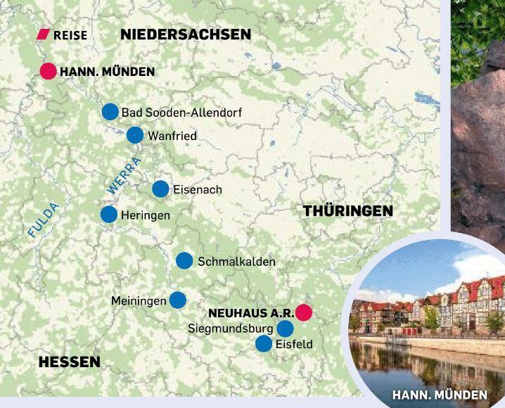 Tour 3 führt von Neuhaus am Rennweg nach Hann. Münden.
