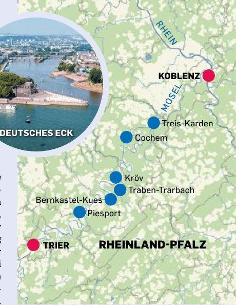 Tour 2 führt von Trier nach Koblenz.