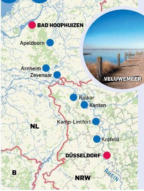 Tour 1 von Düsseldorf nach Bad Hoophuizen.