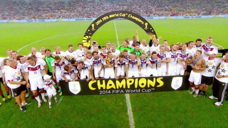 Das DFB-Team nach dem WM-Titel in Rio de Janeiro.