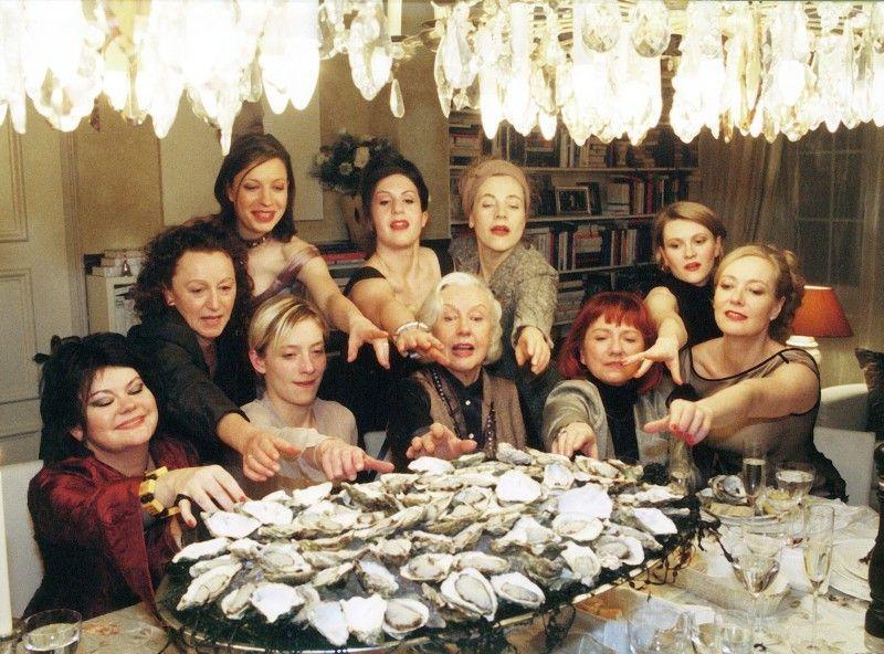 Wenn Frauen Austern Essen