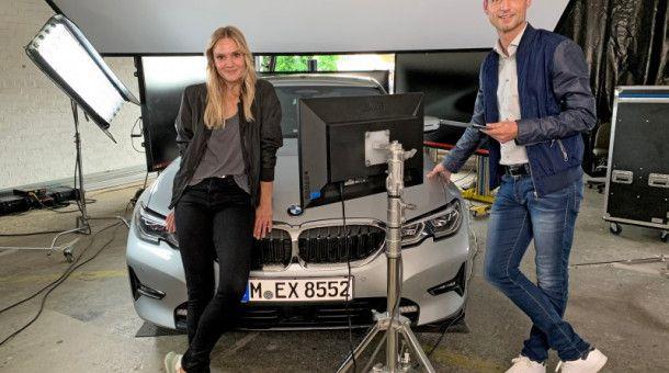 Pia Stutzenstein mit prisma-Chefredakteur Stephan Braun.