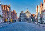 Die schöne Altstadt von Lüneburg.