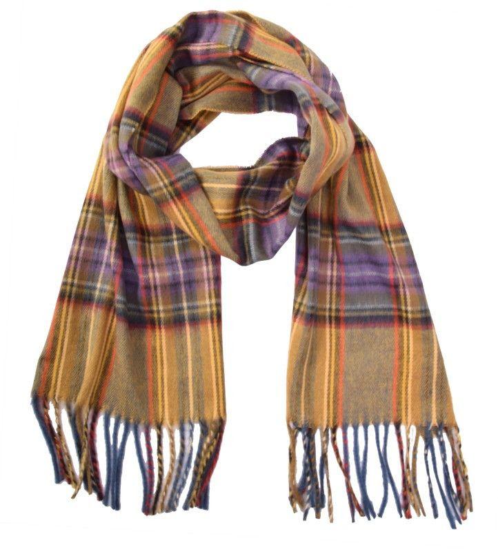 Ein paar lila Farbtupfer machen das Besondere an diesem Schal von Fuchs-Schmitt aus.