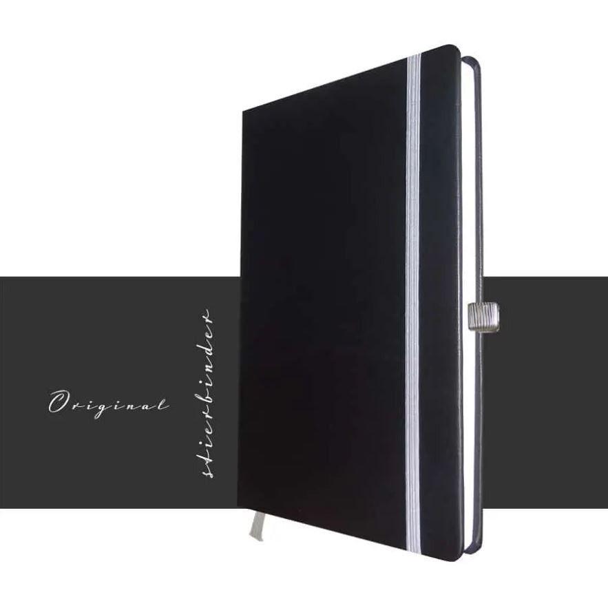Nappaleder Notizbuch A5 schwarz.
