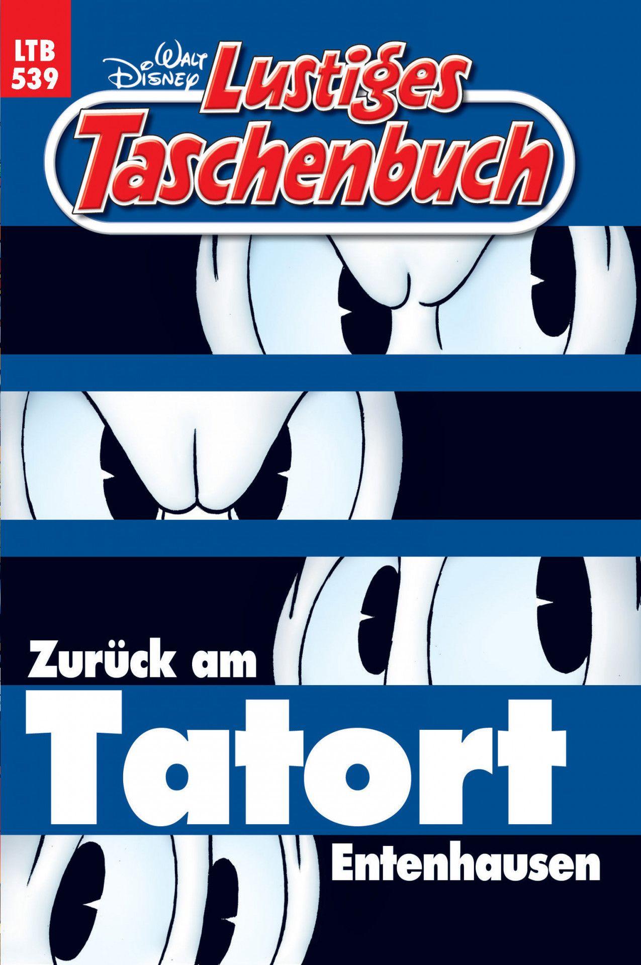 """Walt Disneys """"Lustiges Taschenbuch"""" gratuliert der ARD-Fernsehreihe Tatort mit der Geschichte """"Zurück am Tatort Entenhausen""""."""