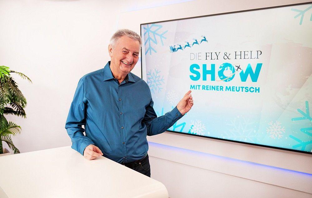 """Reiner Meutsch moderiert zum zweiten Mal die """"Fly & Help Show"""" bei sonnenklarTV."""