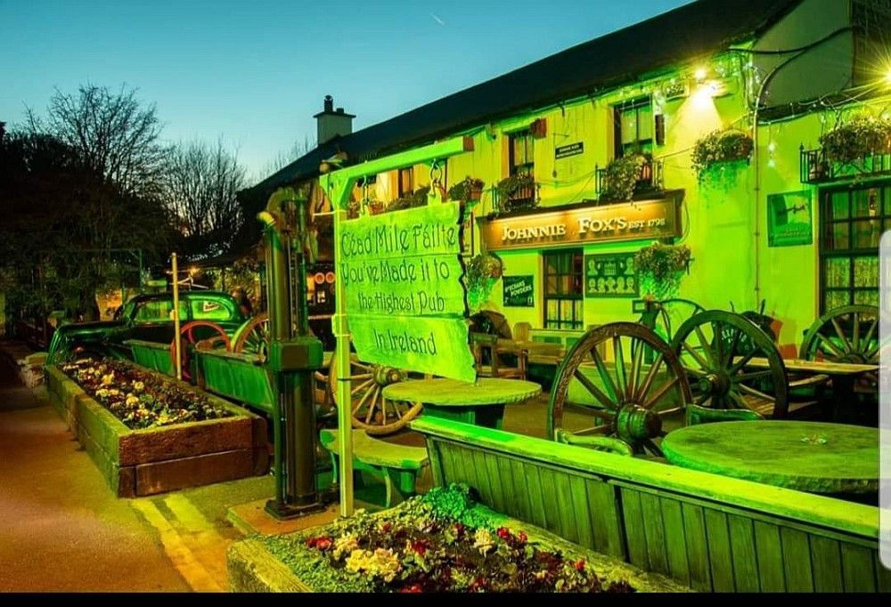Der Pub Johnnie Fox's in den Dublin Mountains