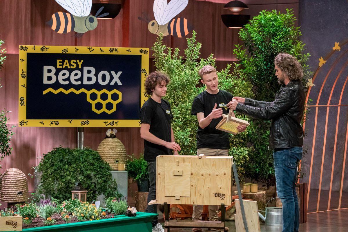 <b>Folge 3:</b> Mit der easyBeeBox kann sich jeder ein Bienenvolk im Garten halten. Nils Glagau ist von diesem Naturschutz-Ansatz überzeugt, er investiert 150.000 Euro für 25 Prozent.