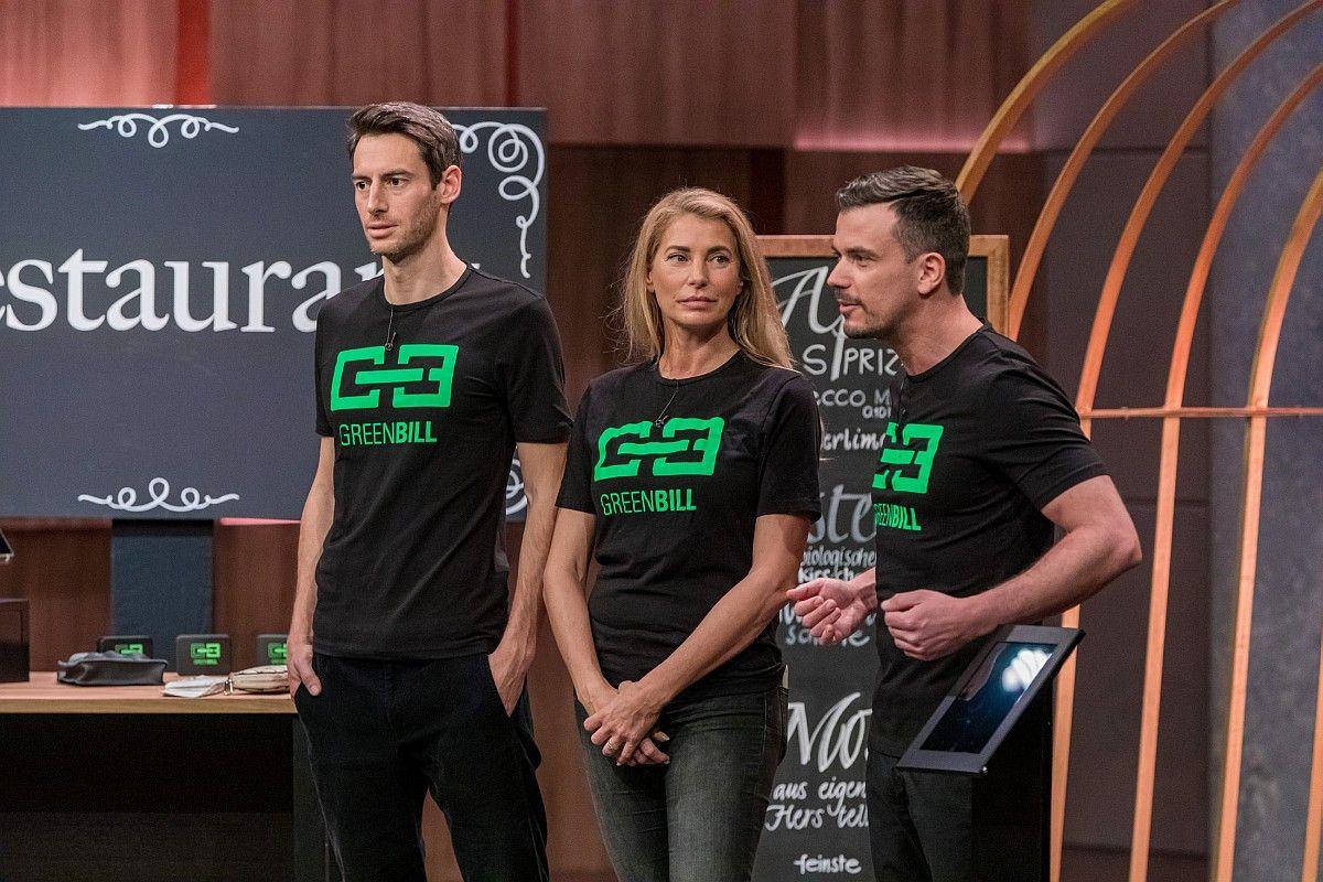<b>Folge 8:</b> GreenBill ist ein digitales Kassenbon-System. Carsten Maschmeyer, Dagmar Wöhrl und Nils Glagau investieren gemeinsam 250.000 Euro für 18 Prozent der Firmenanteile. <b>Allerdings steigen Maschmeyer und Glagau am Ende doch nicht ein.</b>