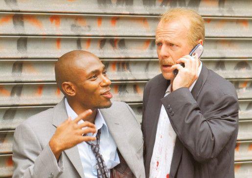 Ein ungleiches Gespann: Mos Def und Bruce Willis  (v.l.)