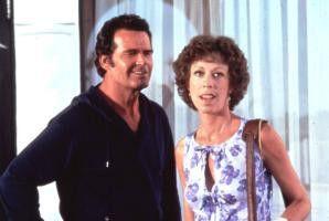 James Garner amüsiert sich mit Carol Burnett auf  dem Gesundheitskongress.