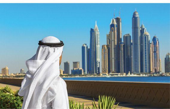 """Dubais Skyline: Hinein und nicht nur vorbei, so lautet die """"Slow""""-Devise."""