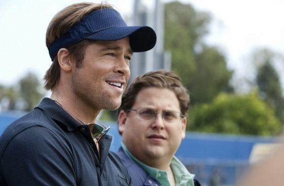 Stolz aufs neue System: Brad Pitt (l.) mit Jonah Hill