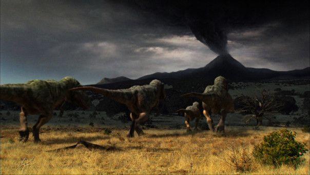 Am Ende der Kreidezeit wurden Rajasaurus und Bruhathkayosaurus im Nordwesten Indiens Zeugen einer außergewöhnlichen vulkanischen Eruption.