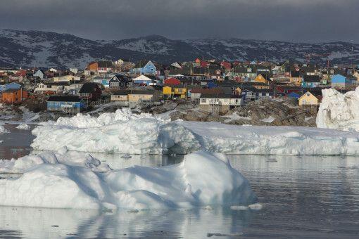 Die Stadt Ilulissat in Grönland: Dort lagen die Temperaturen in diesem Frühjahr bis zu 16 Grad höher als normal.