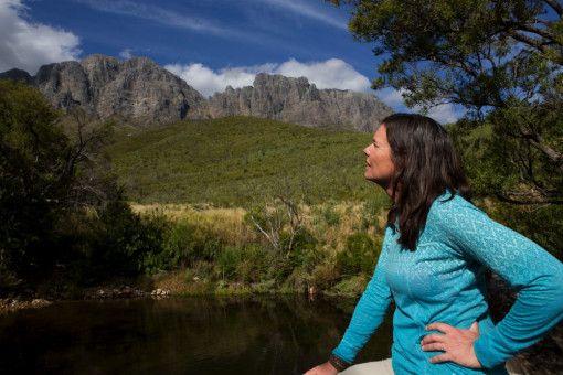 Bernice Notenboom im Naturschutzgebiet der Fynbos in Südafrika