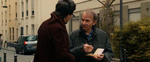 Michel Houellebecq mit einem Fan