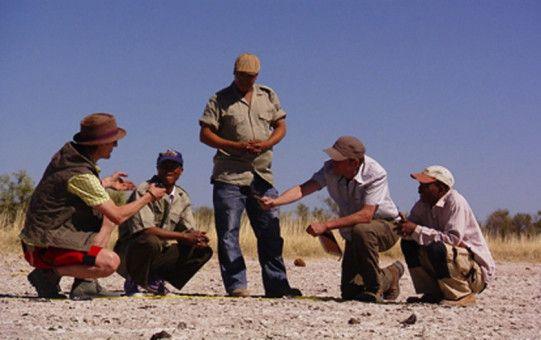 Das Forschungsteam bei einem Feldversuch in der ausgetrockneten Gaucha-Pfanne