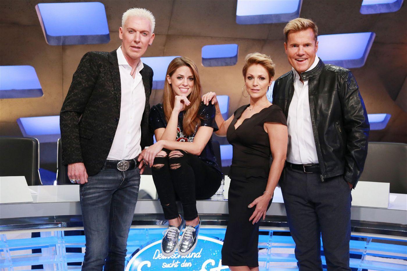 """So sieht sie aus, die neue Jury der Casting-Show """"Deutschland sucht den Superstar""""."""