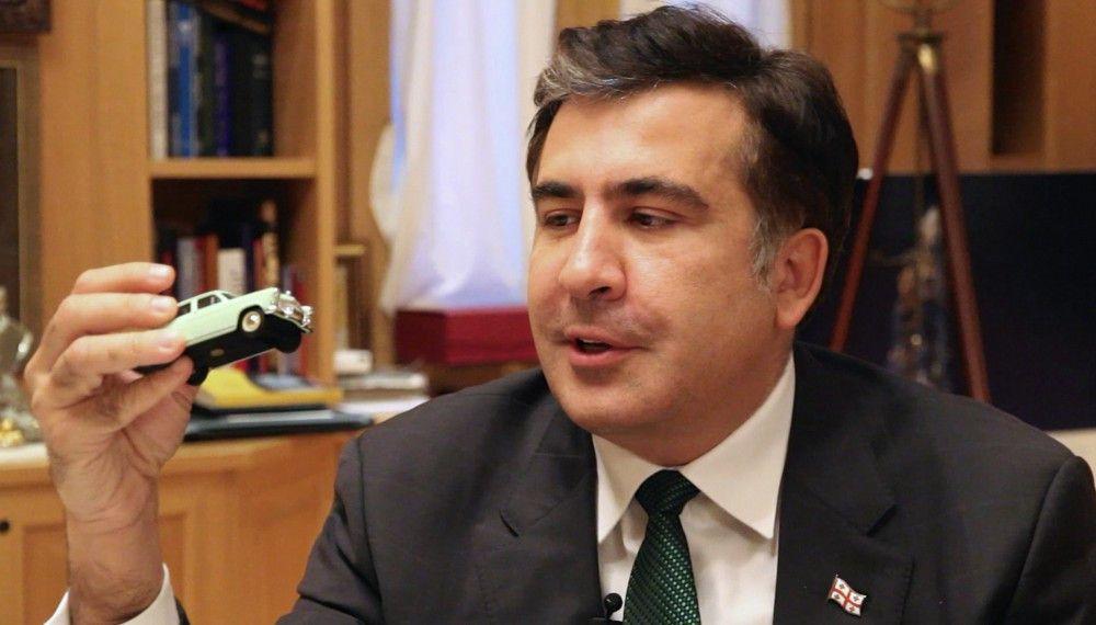 Präsident Mikhail Saakaschwili verbindet mit dem Auto Wolga 21 den Lebensstil der alten Zeit, die Georgien hinter sich lassen sollte.