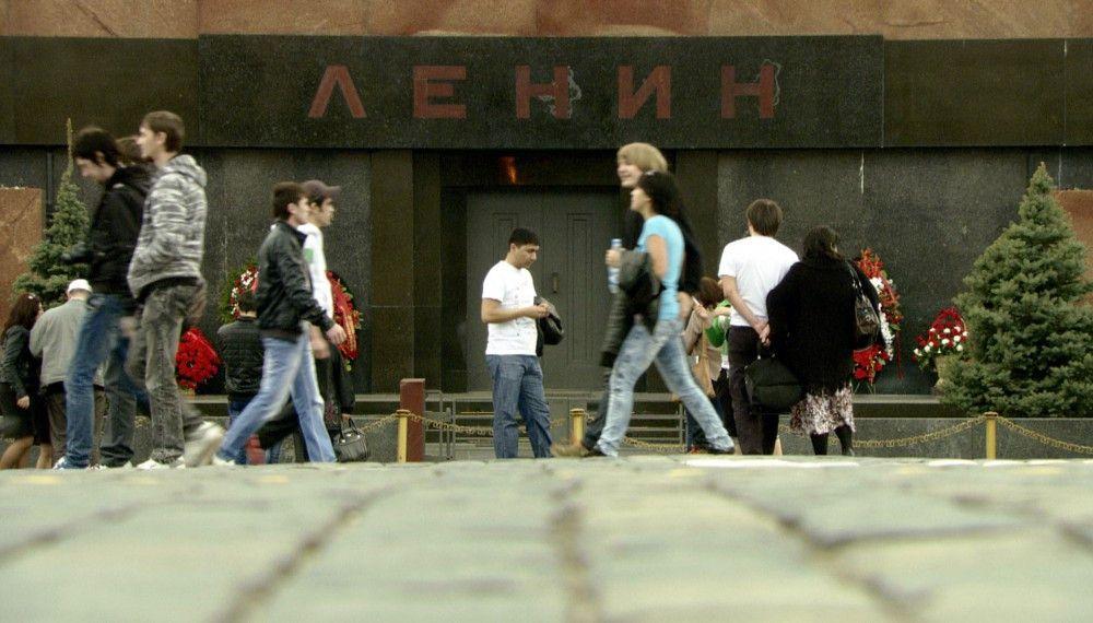 Das Mausoleum in Moskau. Hier liegt Lenin begraben.