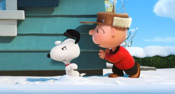 Snoopy (l.) und Charlie Brown.