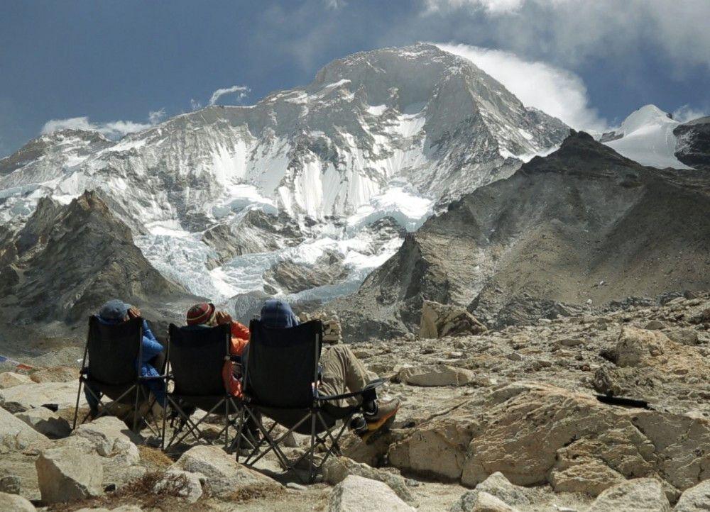 Stephan Siegrist und seine Seilgefährten haben den Himalaya vor Augen