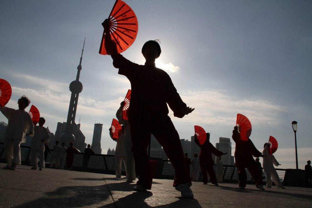 Tai Chi on the Bund, Shanghai, China