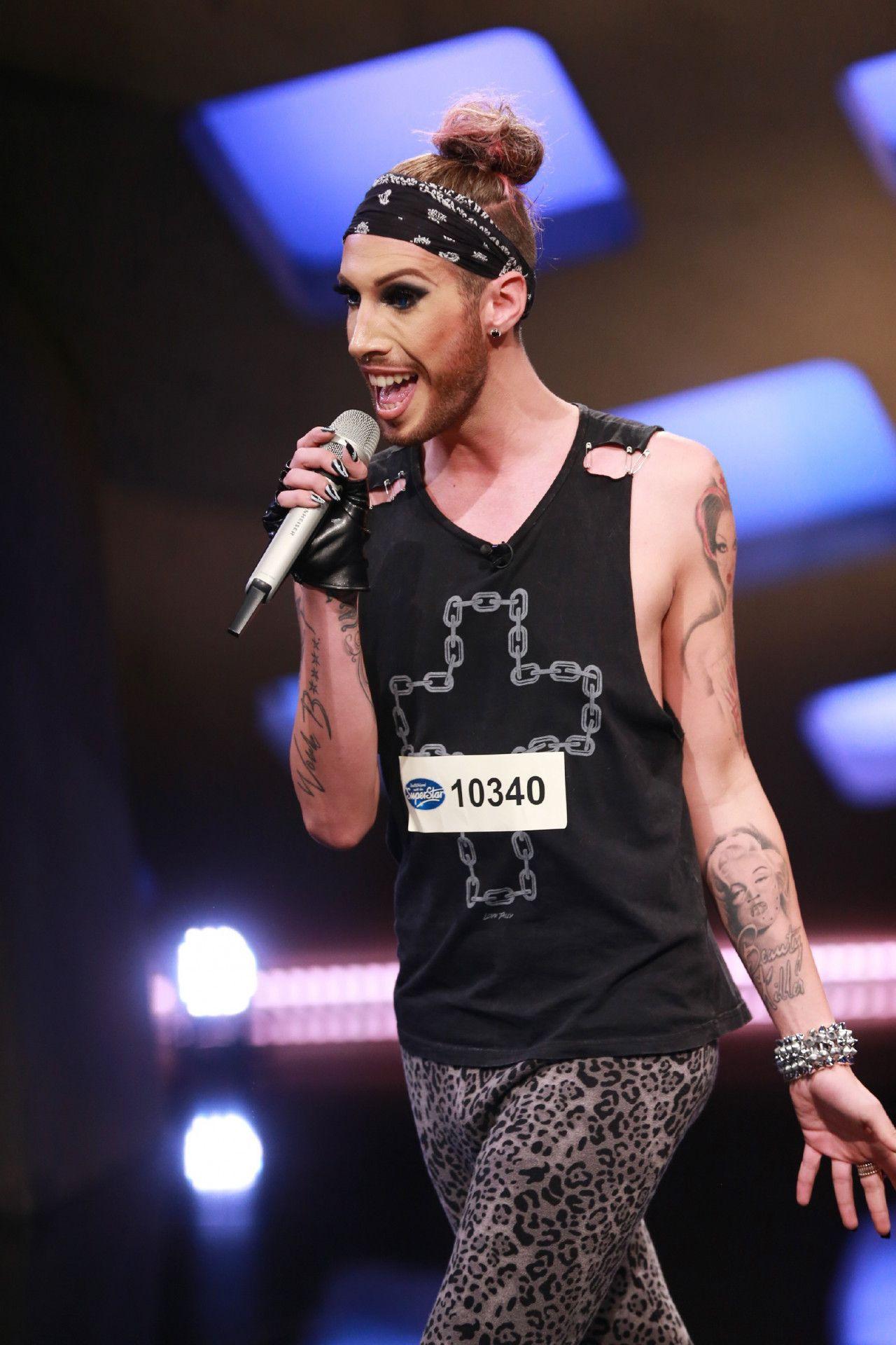 """Bei """"Deutschland sucht den Superstar"""" möchte er die Jury mit """"Tainted Love"""" von Marilyn Manson überzeugen."""
