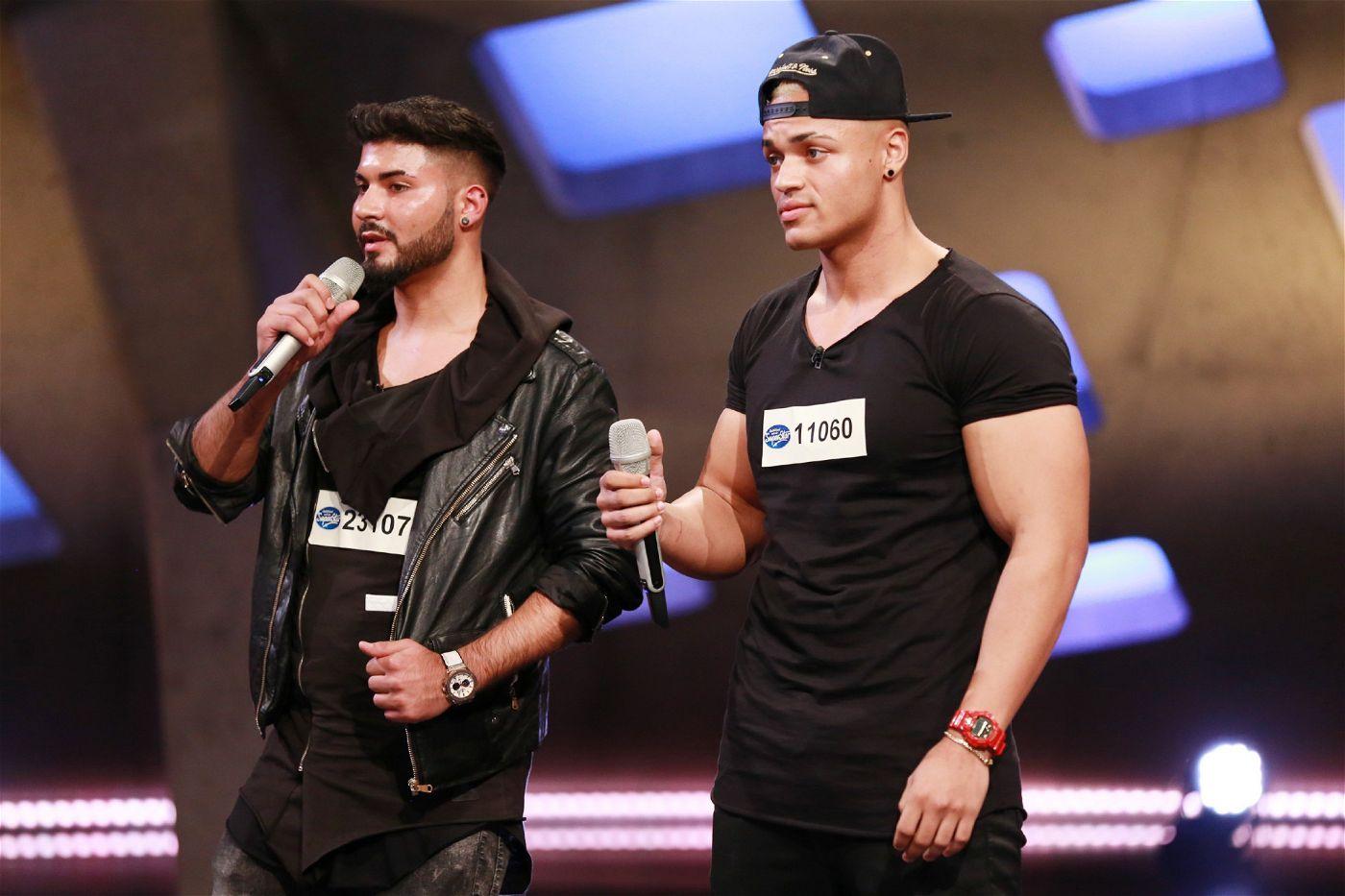 """Robin Said (l.) und Keven Gerber wollen in der Castingshow """"Deutschland sucht den Superstar"""" groß rauskommen."""