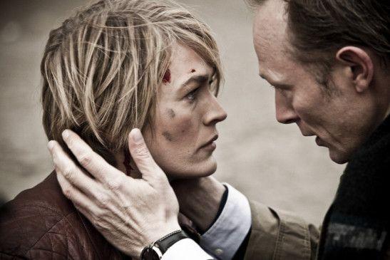 Geht es dir gut? Bisgaard (Lars Mikkelsen) kümmert sich um Kommissarin Jensen (Laura Bach)