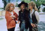 Sogar ein Fährtensucher (George Carlin) muss ran,  damit Shelley Long (l.) und Bette Midler ihren Kerl  wiederfinden