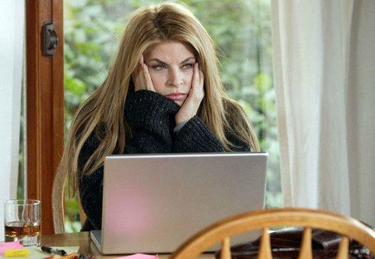 Drehbuchautorin Byrdie (Kirstie Alley) steckt in einer tiefen Schaffenskrise