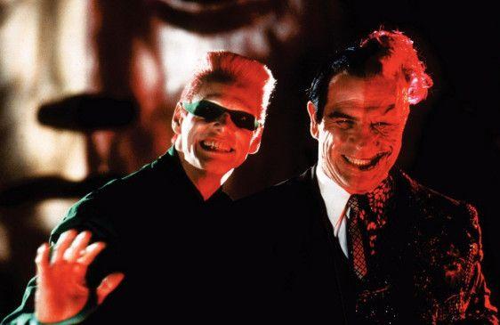 Batmans erbitterte Gegner: The Riddler (Jim Carrey, l.) und Two-Face (Tommy Lee Jones)