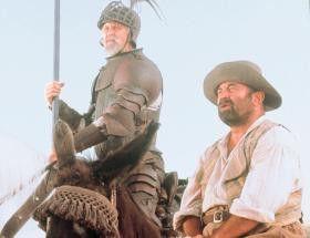 Hä? Ich sehe keine Riesen, sondern nur Windmühlen!  Bob Hoskins (r.) und John Lithgow