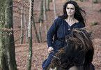 Stine Stengade als böse Hexe aus dem Wald