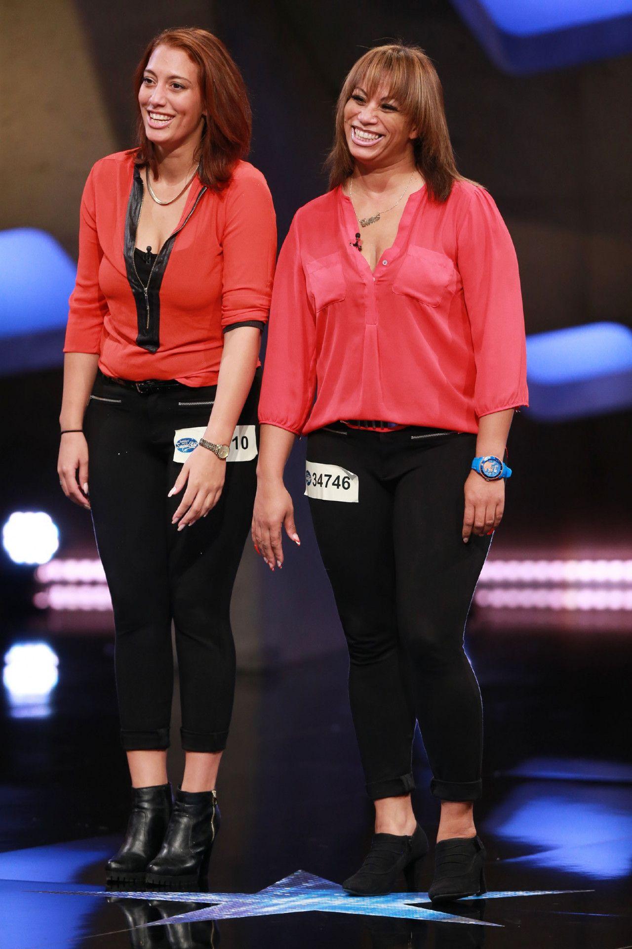 """Jaqueline-Julia Cuenca Lopez und Tanika Michelle Cuenca Lopez  sind Mutter und Tochter. Jaqueline-Julia singt """"Valerie"""" von Amy Winehouse, Tanika Michelle singt """"Ain't Nobody"""" von Chaka Khan."""