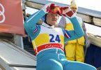 """Michael """"Eddie"""" Edwards (Taron Egerton) möchte unbedingt als Skispringer an den olympischen Spielen teilnehmen."""