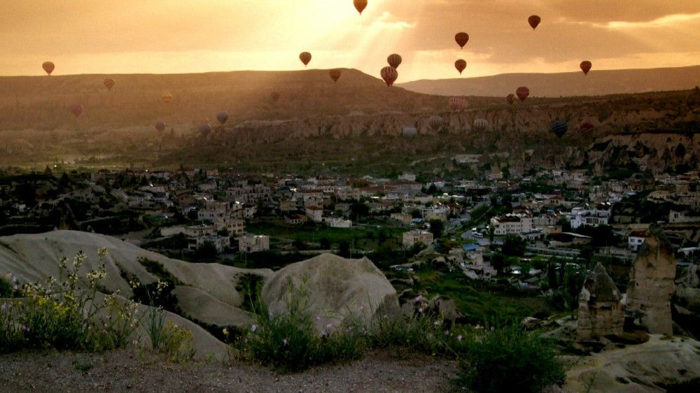 Unterwegs in der Türkei - Heißluftballons über Göreme