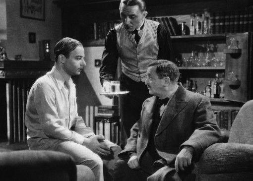 Ich will nicht dein Nachfolger werden! Toni (Heinz Rühmann) beichtet es seinem Onkel (Hans Moser, r., mit Theo Lingen)
